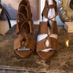 Zara tan strappy heels size 38